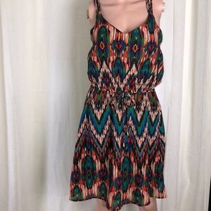 SPEED CONTROL BOHO DRESS SIZE M MULTICOLOR